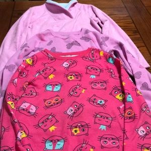 Girl's Sweatshirt and Pullover Bundle Size 7/8 M